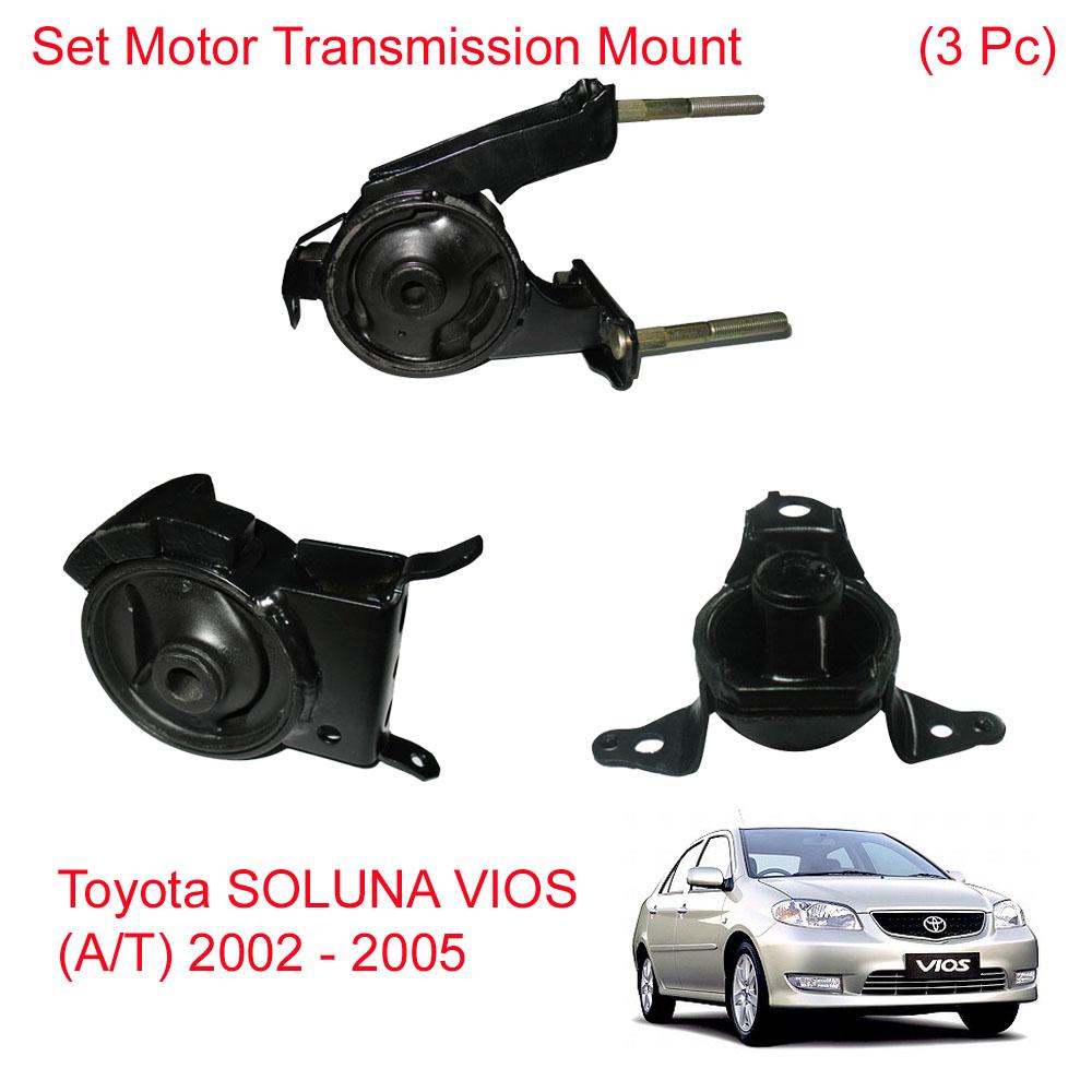 Set Engine Motor Trans Mount Mounting Fit Toyota SOLUNA VIOS (A/T) 2002 -  2005