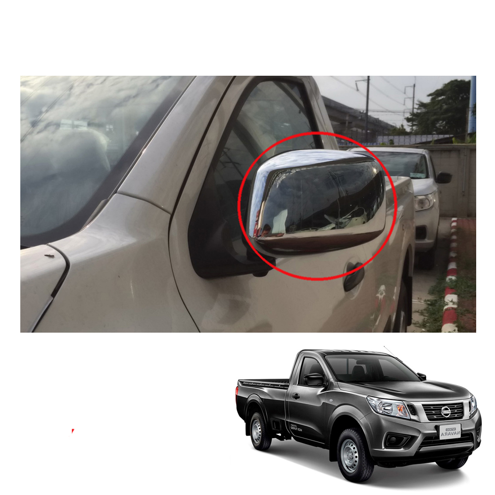 Image is loading Side-Mirror-Cover-Chrome-2-Doors-Single-Cab-