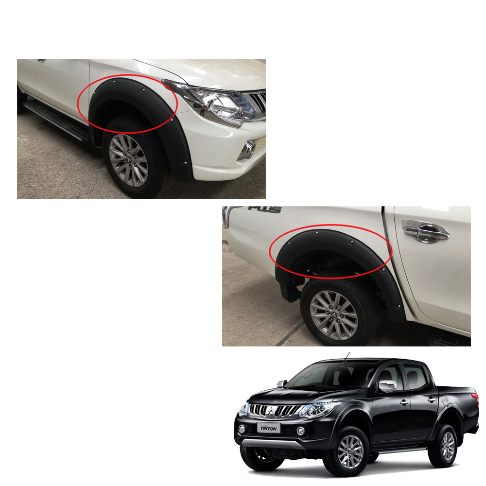 For Mitsubishi L200 Triton 2015 16 17 UTE Fender Flares Wheel Black 4 Doors