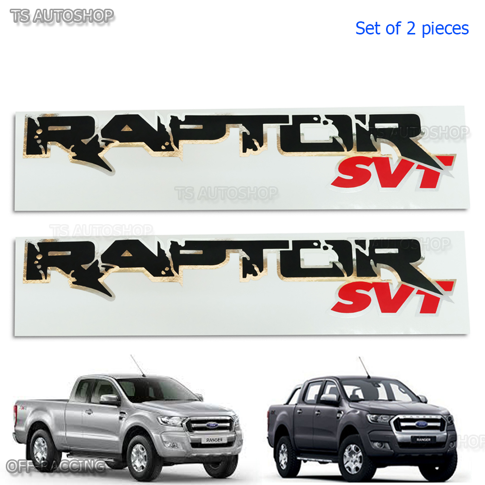 2pcs Raptor Svt Sticker Rear Back For Ford