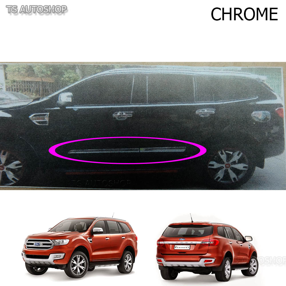 Chrome-Line-Side-Door-Cladding-Molding-For-Ford-  sc 1 st  eBay & Chrome Line Side Door Cladding Molding For Ford Everest Suv 2.2 3.2 ...