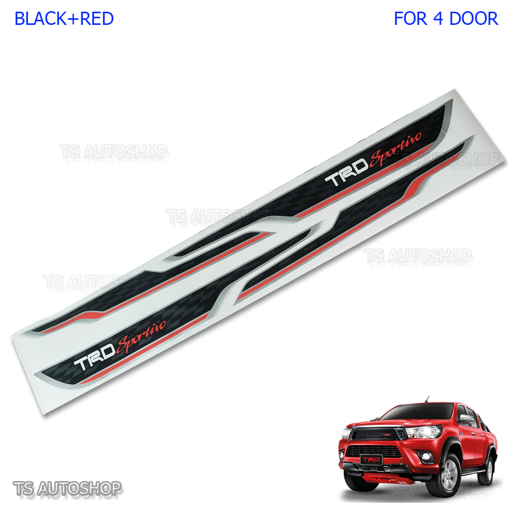 Black sticker trd sportivo side decal fit toyota hilux revo sr5 m70 4d 2016 2017 1 of 8free shipping