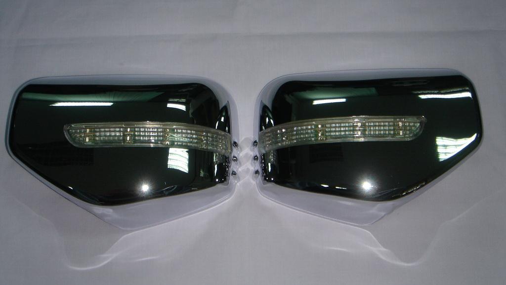 LED 2 Pc Fits Mitsubishi L200 Triton 2006-2014 Wing Side Mirror Cover Chrome