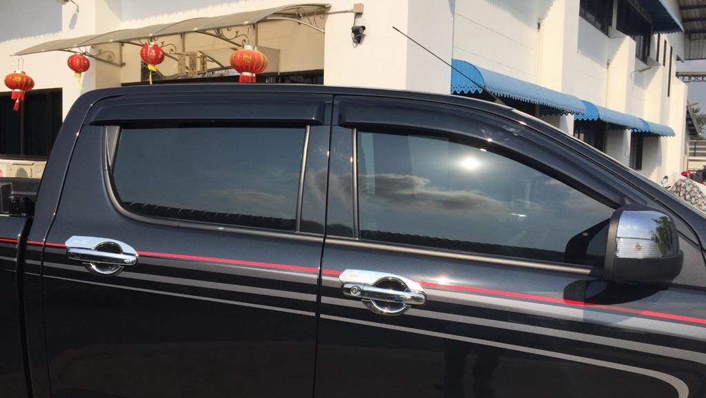 Big Visor Wind Deflector Weather Guard Black For Mazda Bt 50 Bt50 Pro 2012 2018 Ebay