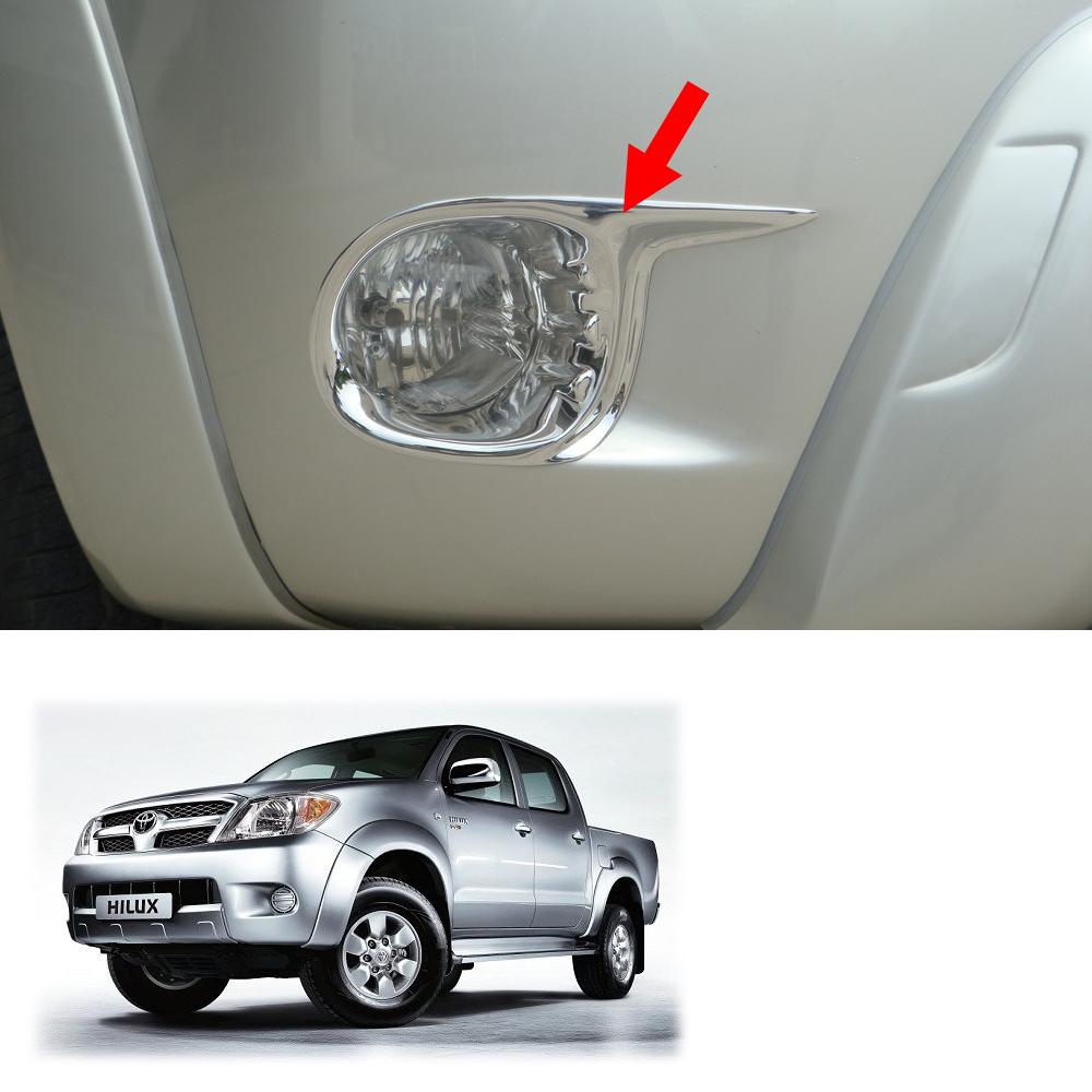 Chrome Fog Lamp Light Cover Trim Fits Toyota Hilux Vigo Champ Sr5 2012 2014 2015
