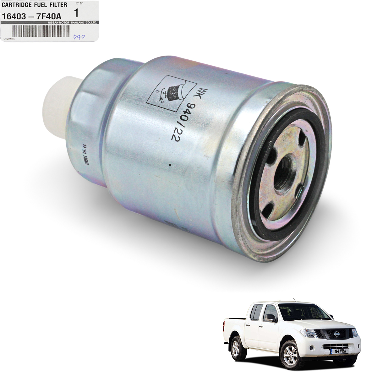 Genuine Cartridge Fuel Filter Silver Fits Nissan Navara Frontier D40 Vehicle Image Is Loading