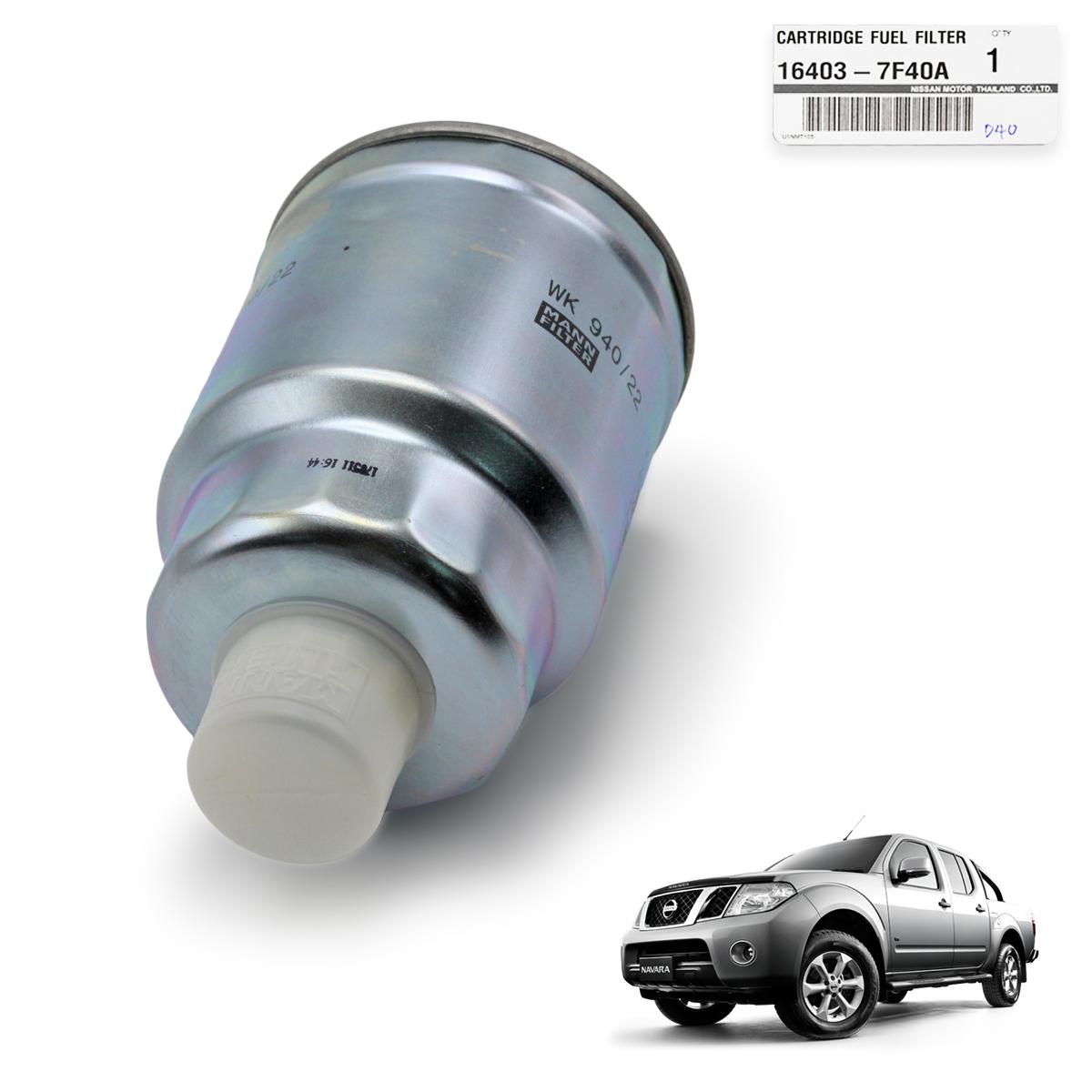 Genuine Cartridge Fuel Filter Silver Fits Nissan Navara Frontier D40 Juke Location