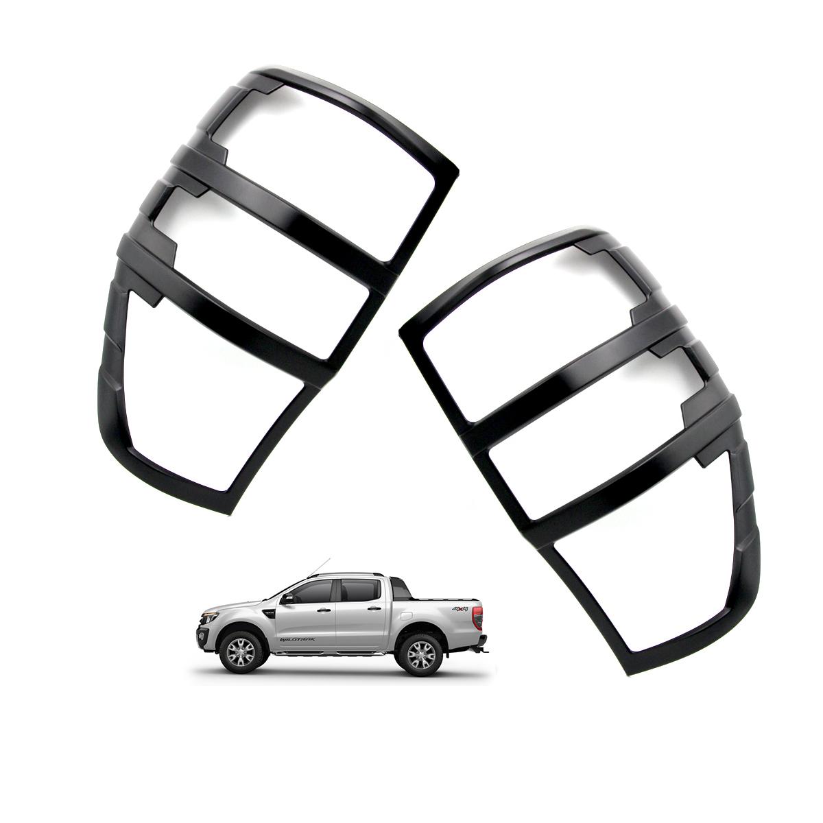 Rear Tail Lamp Light Cover Trim Matte Black For Ford Ranger T6 Pickup 2012 2018