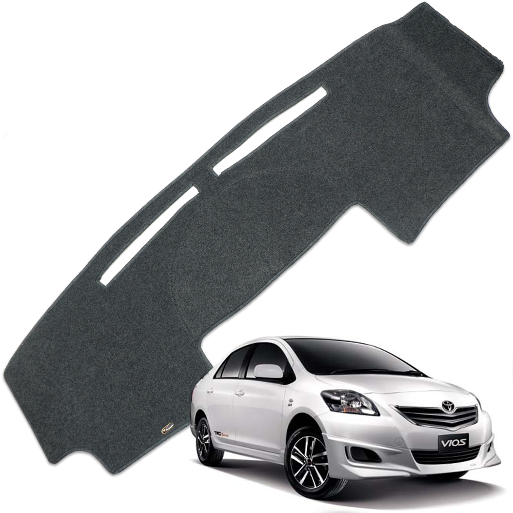 linfei Auto Car Dashboard Cover Dash Mat Dash Board Pad Carpet Dashmat Anti-UV Mats pour Toyota Avensis 2005 2006 Left Black