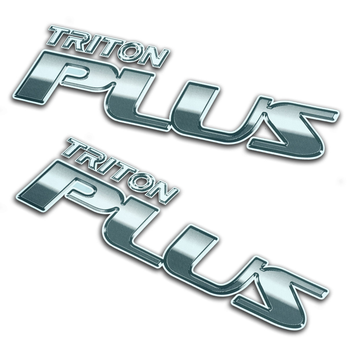 Fits Mitsubishi L200 Triton 05 2010 14 Sticker Badge TRITON PLUS Trim Black