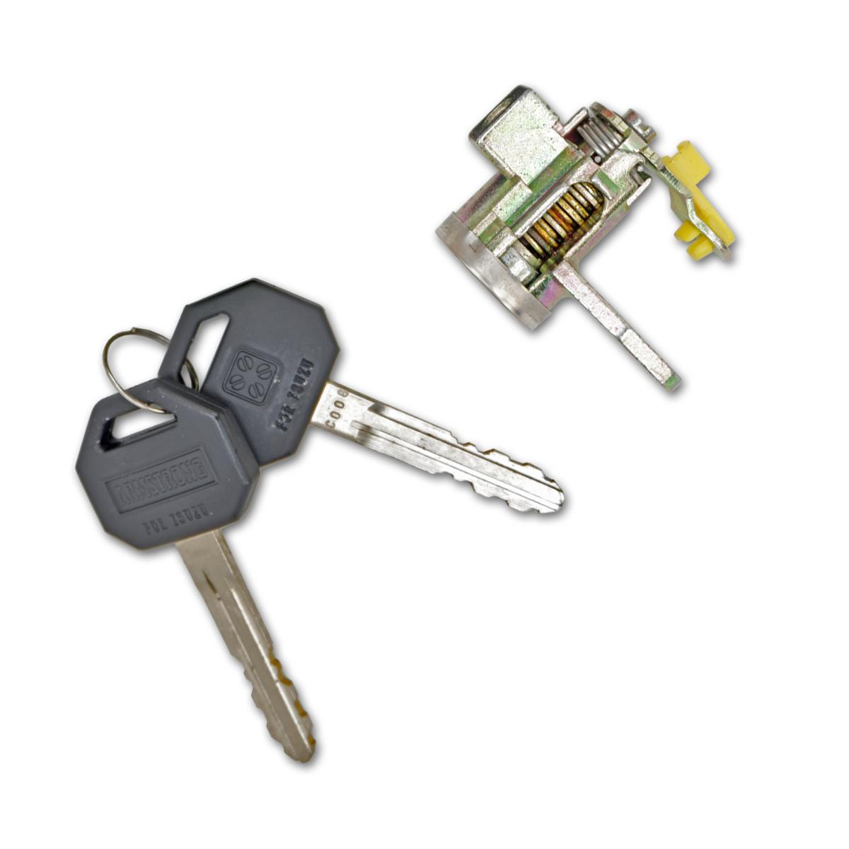 Fits Isuzu Holden Tfr Pickup 1992 93 94 Lh Rh Door Lock Cylinder Key Silver