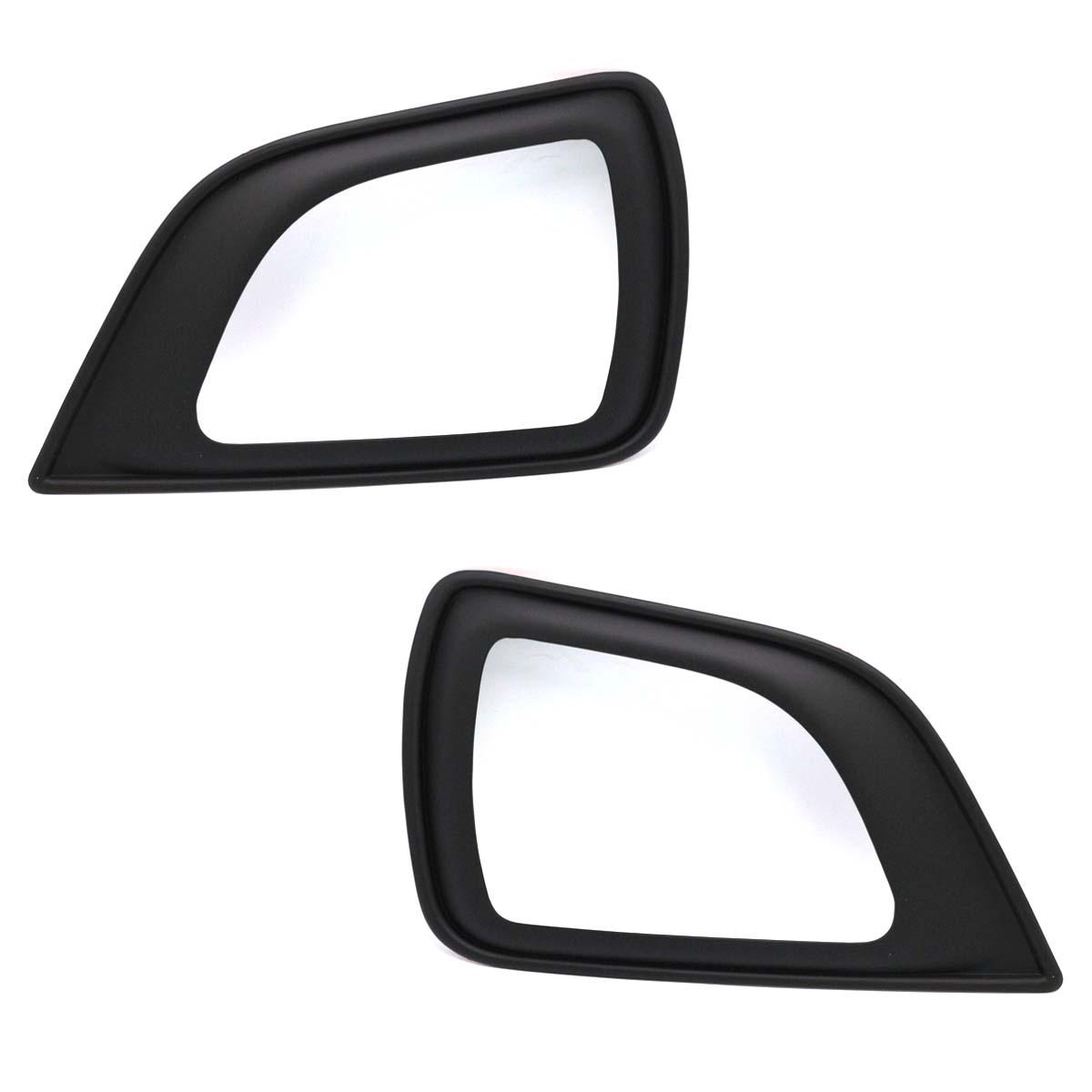 Spot Light Fog Lamp Cover Black Carbon Film For Nissan NP300 D23 2015 2018