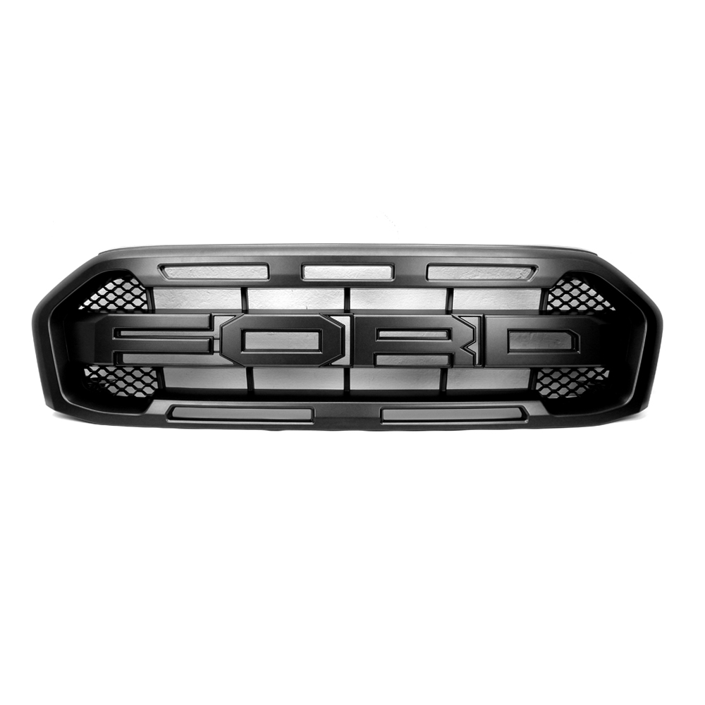genuine front grille grill black trim fits ford ranger. Black Bedroom Furniture Sets. Home Design Ideas
