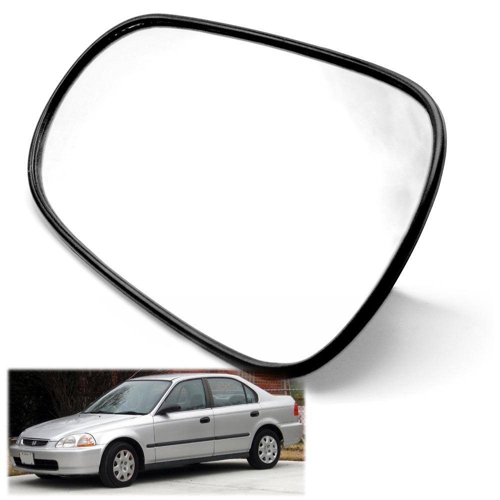Left Passenger Near Side Convex Wing Door Mirror Glass for HONDA CIVIC 1996-2000