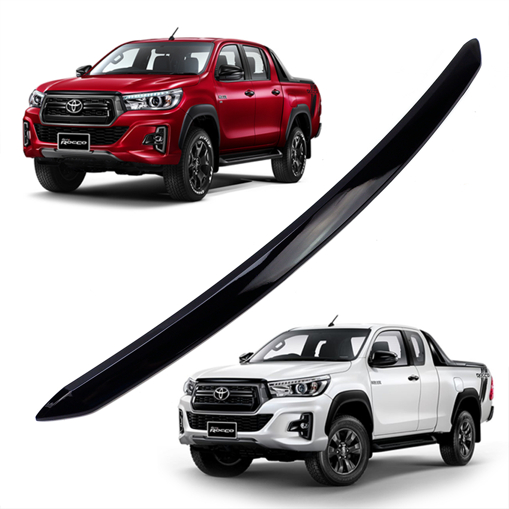 Details about Gloss Black Line Front Bonnet Hood Black Fits Toyota Hilux  Revo Rocco 2015 2019