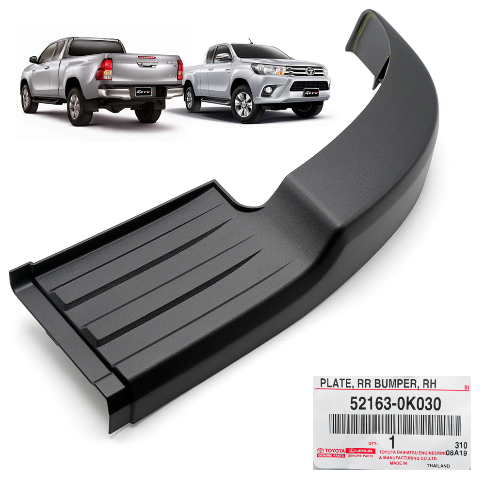 OEM TOYOTA HILUX 2011-2013 front bumper moulding onlay Right BLACK