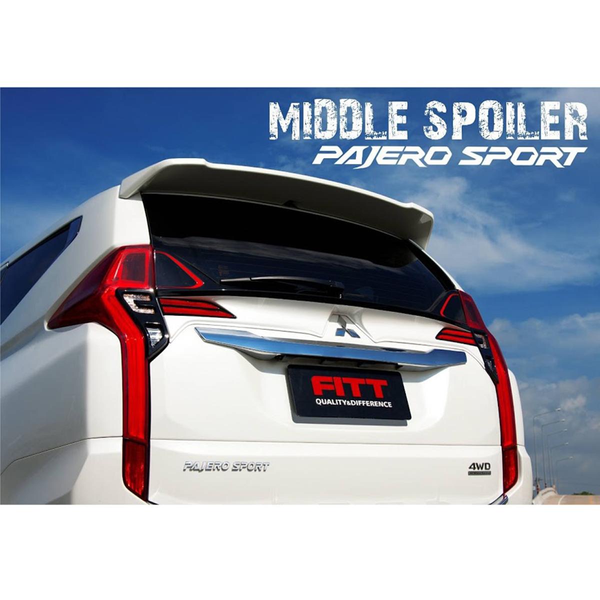 Mitsubishi Montero Pajero Sport Tailgate Spoiler Colour: Unpaint Rear Spoiler Wing White For Mitsubishi Pajero