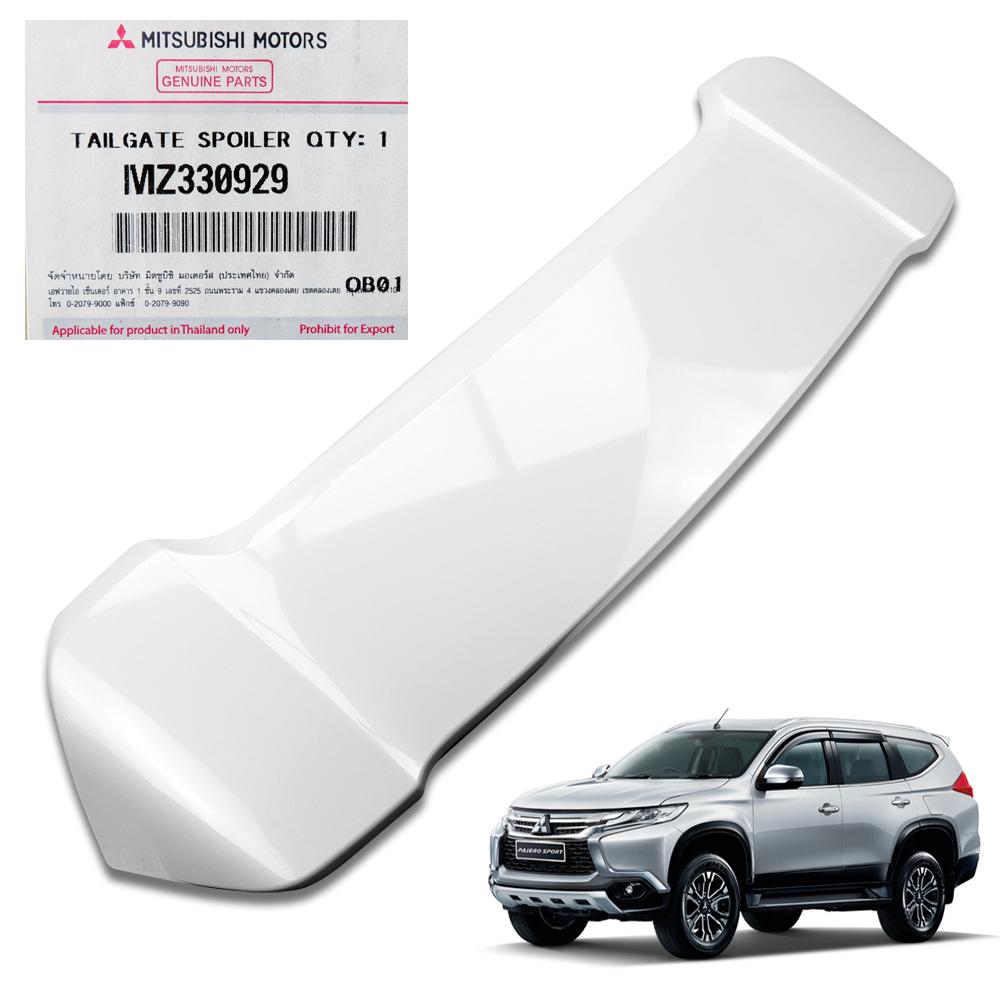 Mitsubishi Montero Pajero Sport Tailgate Spoiler Colour: Genuine Rear Spoiler White Pearl For Mitsubishi Pajero