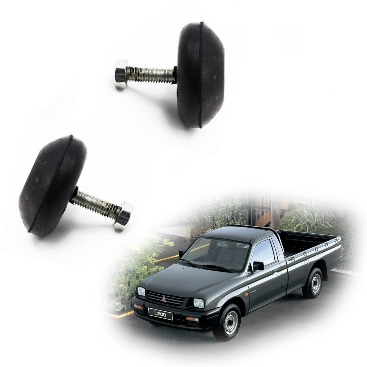 Front Hood Bonnet Bumper Rubber For Mitsubishi L200 Cyclone Pickup 1986 1996