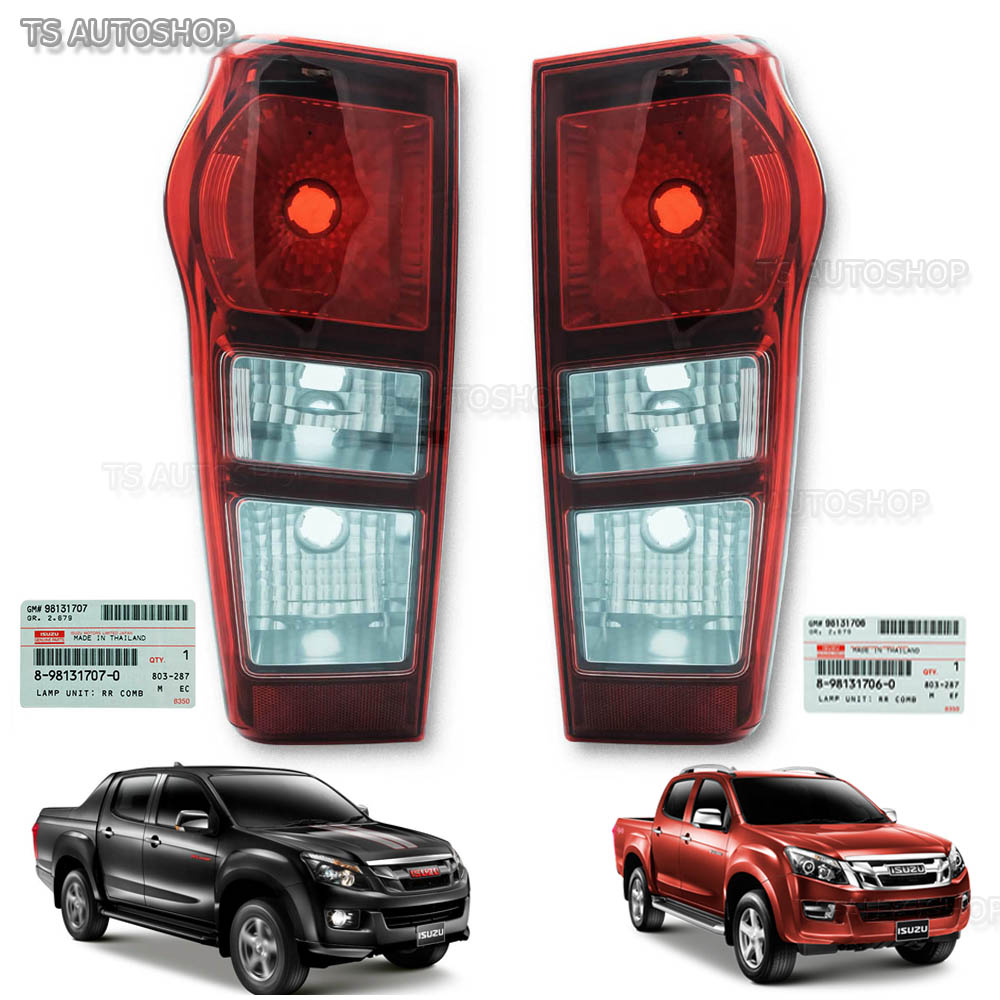 Left right rear tail lamp genuine for isuzu d max holden hi lander left right rear tail lamp for isuzu d max holden hi lander 4x2 2012 aloadofball Image collections