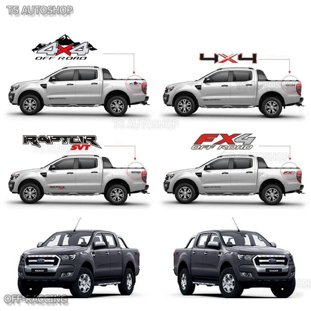 2 Pcs 4x4 Off Road Sticker Rear Tail For Ford Ranger Wildtrak Mk2 Px2 2015 2017