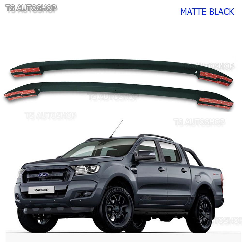Matte Black Abs Roof Rack Bar Fit Ford Ranger T6 Mk2 Px4